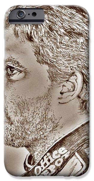 Tony Stewart in 2011 iPhone Case by J McCombie