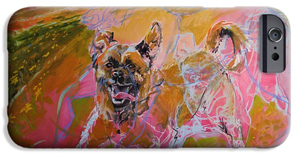 Puppies iPhone Cases - tony Tony TONY iPhone Case by Susan Davies