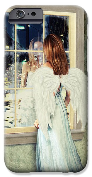 Linda Lees iPhone Cases - Too Cold for Angels to Fly iPhone Case by Linda Lees