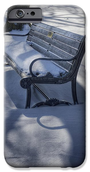 Snowy Day iPhone Cases - Too Cold to Contemplate iPhone Case by Joan Carroll