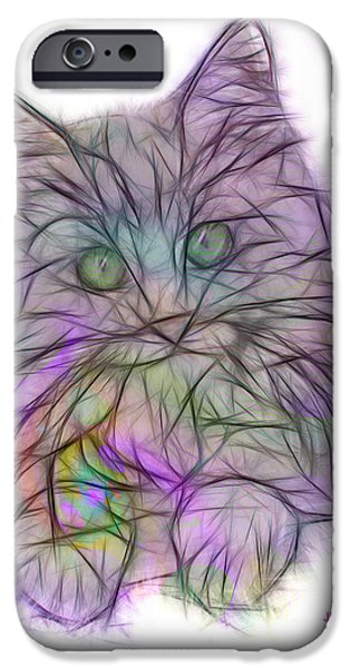 Maine Mixed Media iPhone Cases - Too Cute iPhone Case by John Robert Beck