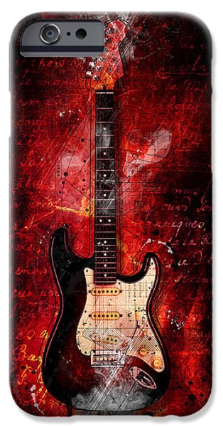 Fender Strat iPhone Cases - Too Hot To Handle iPhone Case by Gary Bodnar