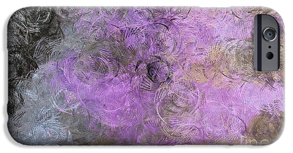 Abstract Digital Art iPhone Cases - Too School For Cool Purple iPhone Case by Holley Jacobs