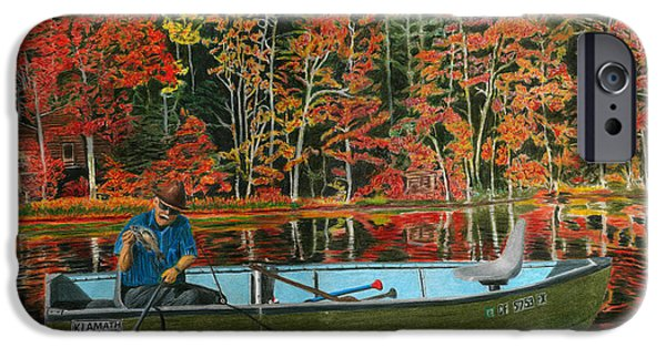 Willow Lake Drawings iPhone Cases - Too Small to Keep iPhone Case by Peter Piatt