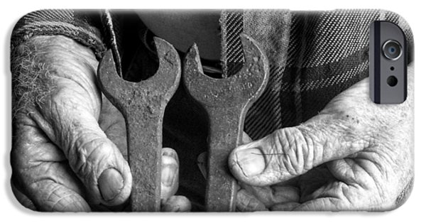 Work Tool iPhone Cases - Tools Used All His Life iPhone Case by Kristie  Bonnewell