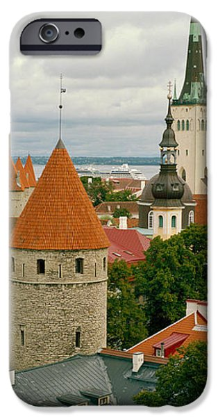 Estonia Photographs iPhone Cases - Toompea View, Old Town, Tallinn, Estonia iPhone Case by Panoramic Images