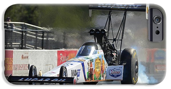 Drag iPhone Cases - Top Fuel Dragster iPhone Case by Gianfranco Weiss