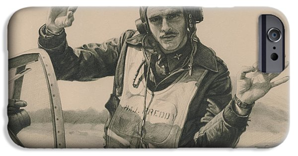 P-51 iPhone Cases - Top Mustang Ace iPhone Case by Wade Meyers