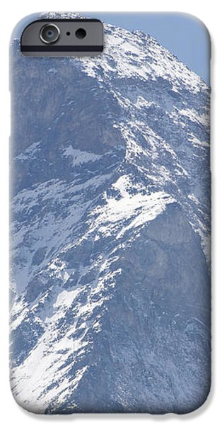 Top of a snow-capped mountain iPhone Case by Mats Silvan