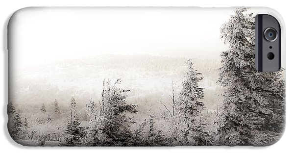 Snowy Scene iPhone Cases - Top of Canaan in Winter iPhone Case by Shane Holsclaw