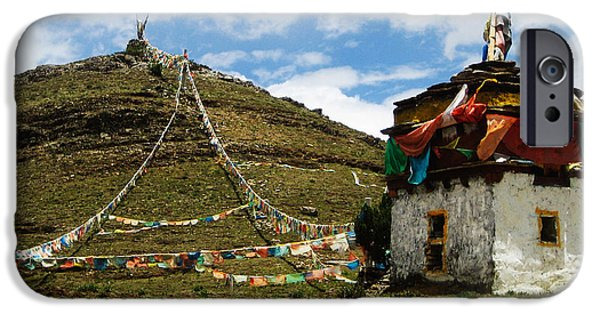 Tibetan Buddhism iPhone Cases - Top of Hill iPhone Case by James Wheeler