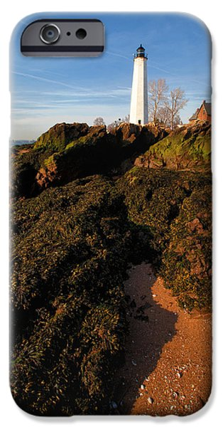 New England Lighthouse iPhone Cases - Top of the Beach iPhone Case by Karol  Livote