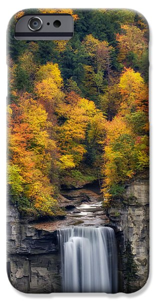 River iPhone Cases - Top of the falls iPhone Case by Mark Papke