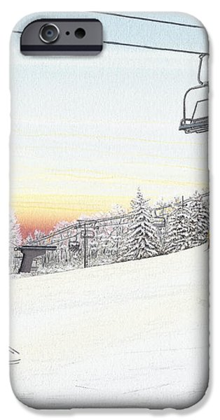 Top of the Mountain at Seven Springs iPhone Case by Albert Puskaric