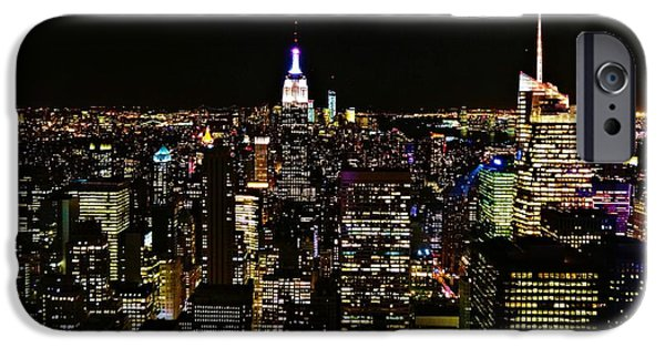 Empire State iPhone Cases - Top Of The Rock iPhone Case by Dan Sproul