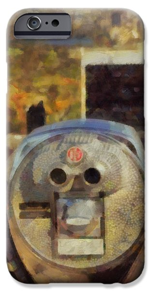 The View Mixed Media iPhone Cases - Top Of The Rock In Autumn iPhone Case by Dan Sproul