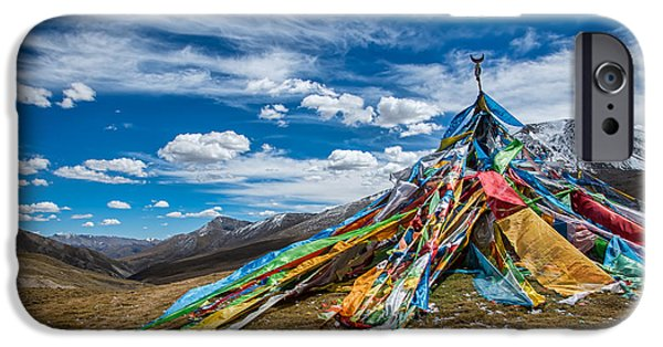 Tibetan Buddhism iPhone Cases - Top of the World iPhone Case by James Wheeler
