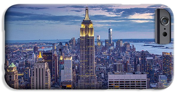 City Scape Photographs iPhone Cases - Top of the World iPhone Case by Marco Crupi
