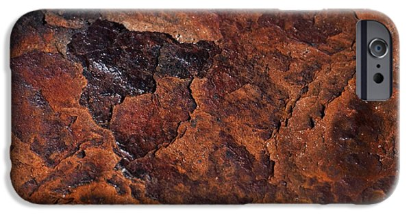 Rust iPhone Cases - Topography of Rust iPhone Case by Rona Black