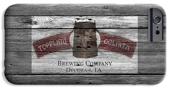Goliath iPhone Cases - Toppling Goliath iPhone Case by Joe Hamilton