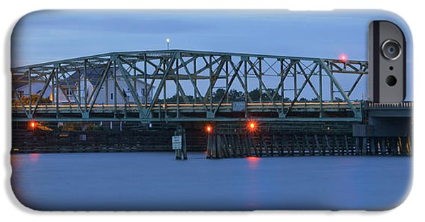 Old North Bridge iPhone Cases - Topsail Island Bridge iPhone Case by Mike McGlothlen