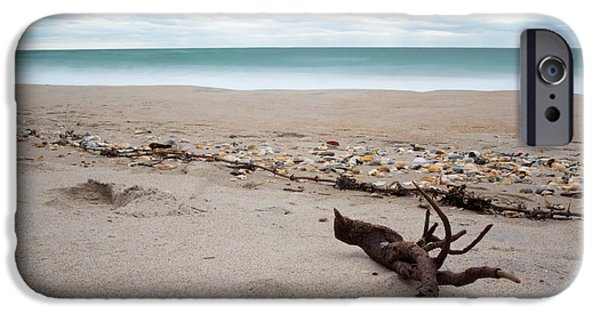 Topsail iPhone Cases - Topsail Island Driftwood iPhone Case by Shane Holsclaw