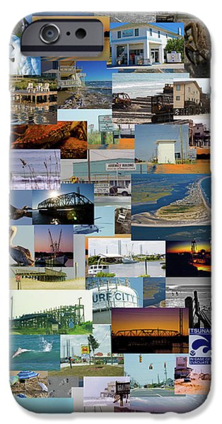 Topsail Island iPhone Cases - Topsail Island NC Collage  iPhone Case by Betsy A  Cutler