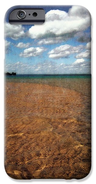 Michelle iPhone Cases - Torch Lake Sandbar 2.0 iPhone Case by Michelle Calkins