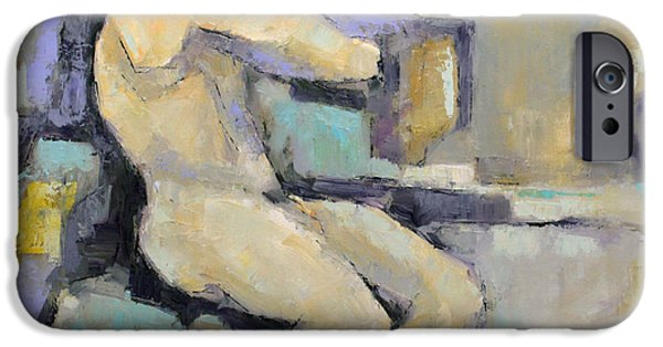 Becky Kim Artist Paintings iPhone Cases - Torment iPhone Case by Becky Kim