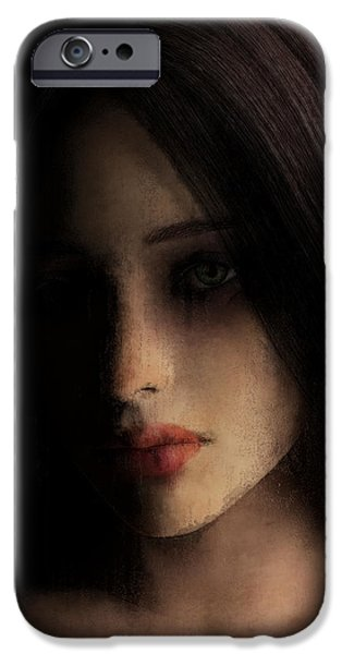 Lips iPhone Cases - Torn iPhone Case by Maynard Ellis