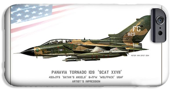 Wwi iPhone Cases - Tornado SCAT XXII iPhone Case by Peter Van Stigt