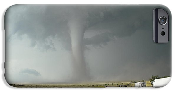 Turbulent Skies iPhone Cases - Tornado Truck Stop iPhone Case by Ed Sweeney