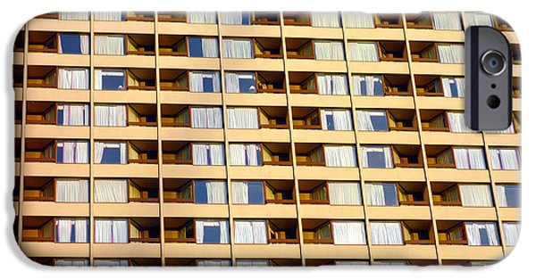 Building Feature iPhone Cases - Toronto Apartment Building iPhone Case by Valentino Visentini