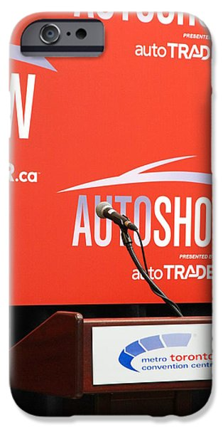 Press Conference iPhone Cases - Toronto Autoshow iPhone Case by Valentino Visentini