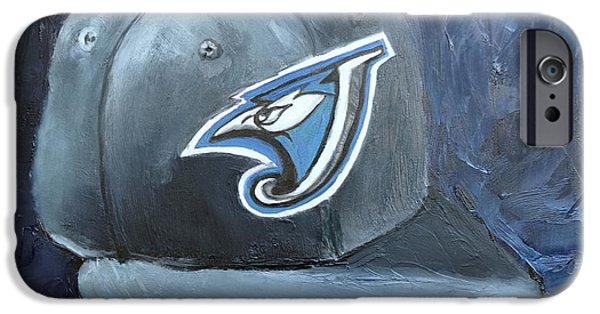 Baseball Art Paintings iPhone Cases - Toronto Blue Jays iPhone Case by Lindsay Frost