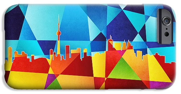 Recently Sold -  - Abstracts iPhone Cases - Toronto Canada Skyline iPhone Case by Michael Tompsett
