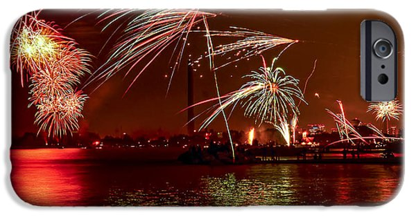4th July Photographs iPhone Cases - Toronto fireworks iPhone Case by Elena Elisseeva