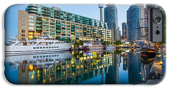 Business iPhone Cases - Toronto Harbor Reflection iPhone Case by James Wheeler