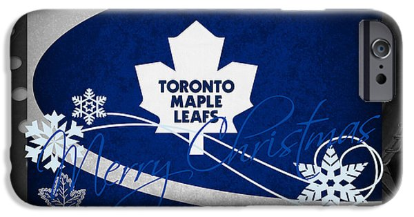 Toronto Maple Leafs iPhone Cases - Toronto Maple Leafs Christmas iPhone Case by Joe Hamilton