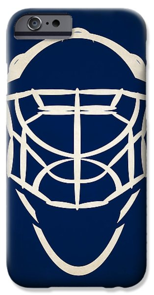 Toronto Maple Leafs iPhone Cases - Toronto Maple Leafs Goalie Mask iPhone Case by Joe Hamilton