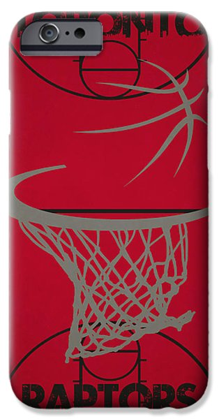 Dunk iPhone Cases - Toronto Raptors Court iPhone Case by Joe Hamilton