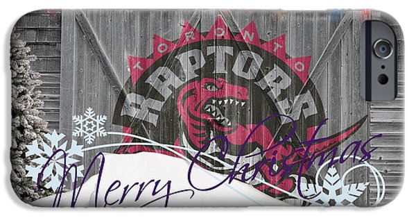Dunk iPhone Cases - Toronto Raptors iPhone Case by Joe Hamilton