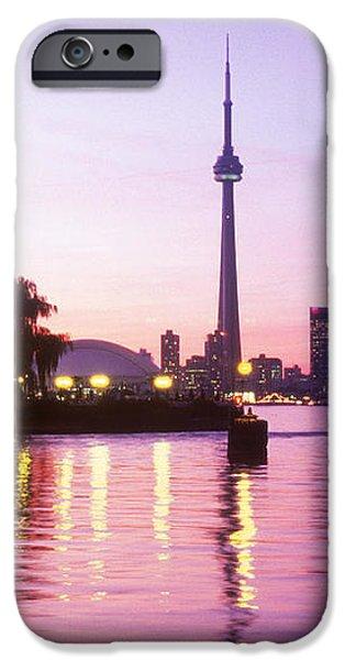 Toronto Skyline At Sunset, Toronto iPhone Case by Peter Mintz