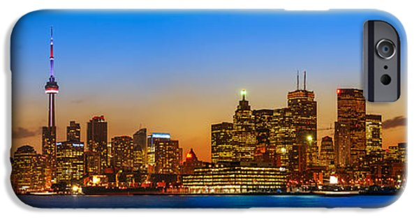 Cave iPhone Cases - Toronto Skyline Panorama iPhone Case by Sebastian Musial