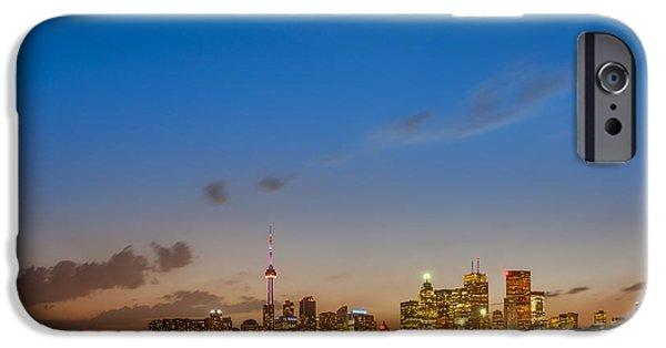Toronto iPhone Cases - Toronto Skyline iPhone Case by Sebastian Musial