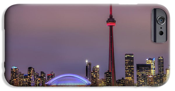Centre iPhone Cases - Toronto Skyline iPhone Case by Shawn Everhart