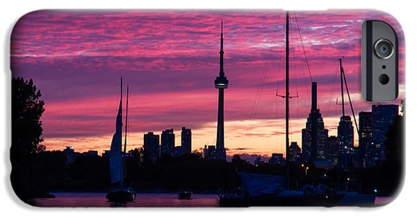 Sailboat Ocean iPhone Cases - Toronto Skyline - the Boats Are Coming In iPhone Case by Georgia Mizuleva