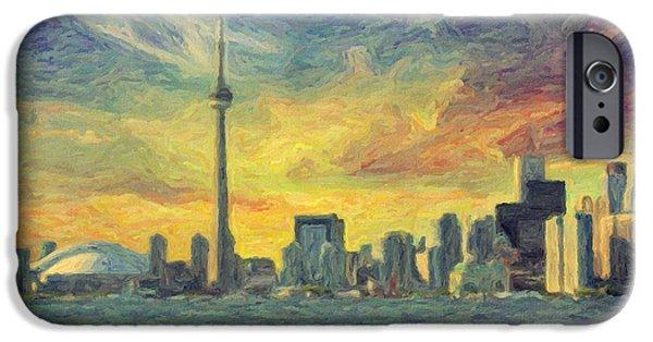 Toronto Paintings iPhone Cases - Toronto  iPhone Case by Taylan Soyturk