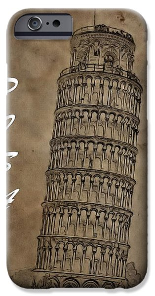 The Duomo iPhone Cases - Torre De Pisa iPhone Case by Dan Sproul