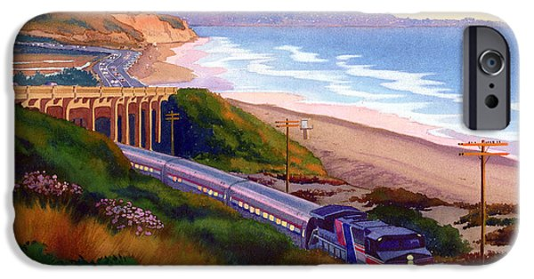 California Beach iPhone Cases - Torrey Pines Commute iPhone Case by Mary Helmreich